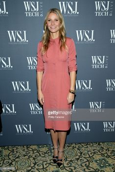 Gwyneth Paltrow & Kevin Hart Speak at WSJ's Tech D. Live Conference: Photo Gwyneth Paltrow steps out in style for the 2018 WSJ's Tech D. Live Conference on Tuesday night (November Also joining the Oscar winner and goop… Gwyneth Paltrow, Mauve Dress, Pink Dress, Nice Dresses, Dresses For Work, Dress Skirt, Shirt Dress, Mature Fashion, Pink Outfits