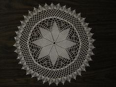 Prairie Star Doily - approx 15 inches