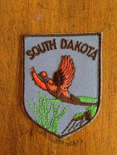 South Dakota Vintage Travel Patch by Voyager by HeydayRetroMart, $5.00