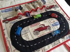 Vintage Car Roll Play Mat roll up for convenient by AfricanGranny