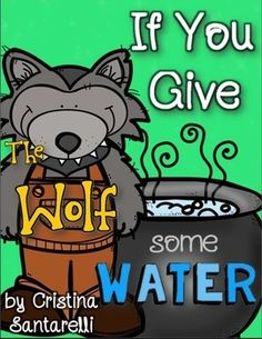Three Little Pigs If You Give The Wolf some Water- Three Little Pigs Book for Prek, Kindergarten, 1st, 2nd, and 3rd inspired by the If You Give series by Laura Numeroff.  Students will love making this book just in time for your Three Little Pigs Unit!