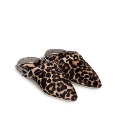 SAO - Babouche with sling back - Leopard pattern Pony Hair, Leopard Pattern, Slippers, Footwear, Leather, Shoes, Style, Fashion, Swag