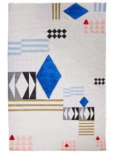 Aelfie x Studio Proba Rug Collaboration - Design Milk Graphic Patterns, Textile Patterns, Textiles, Design Your Own Home, Design Museum, Home Textile, Textile Art, Fiber Art, Rugs On Carpet