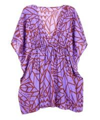 batik leaves butterfly cover-up for those beachy days of Summer.