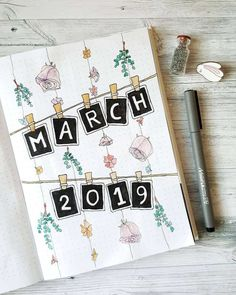 Идеи оформления bullet journal в марте Bullet Journal School, March Bullet Journal, Bullet Journal Banner, Bullet Journal Cover Page, Bullet Journal Notebook, Bullet Journal Themes, Bullet Journal Spread, Bullet Journal Layout, Bullet Journal Inspiration