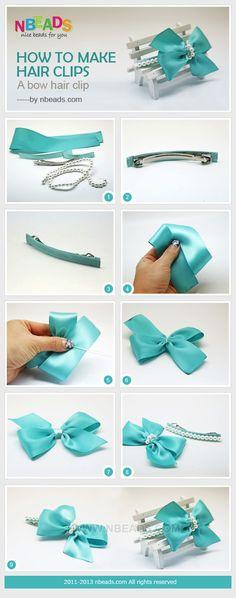 how to make hair clips - a bow hair clip