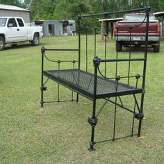 Repurposed Bed Frames, Including A Couple Of My Own :: MacGIRLveru0027s  Clipboard On Hometalk. Iron Bed Frame Made Into A Garden Bench