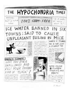The Hypochondria Times' - Cartoon Poster Print  by Roz Chast at the Condé Nast Collection