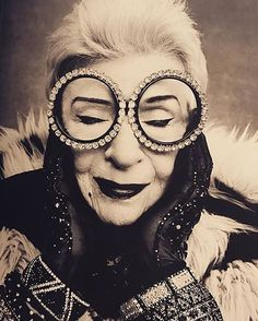"Iris Apfel Instagram: ""The Eccentrics Photo credit: Rufen Afanador"" #black #white #photography #bw #photo"