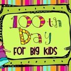 Big kids can have fun too!  Allow your 3rd-5th grade students join in on the 100th Day of School celebrations.  This mini book includes 12 fun activities for grades 3-5.  ($)