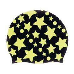 Maru Silicone Badmuts met gele sterren A4316