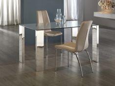 Tavoli Sala da Pranzo di acciaio e vetro : collezione MALIBU