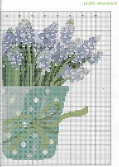 Lilac Tea Cozy of Cross Stitch Collection 154 February 2008 Cross Stitch Tree, Just Cross Stitch, Cross Stitch Flowers, Cross Stitching, Cross Stitch Embroidery, Embroidery Patterns, Cross Stitch Patterns, Cross Stitch Kitchen, Cross Stitch Collection