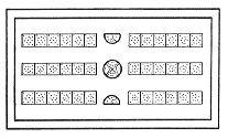 Roman Board Games -- The Lines of the Twelve Philosophers
