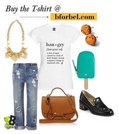 """""""Hangry T-shirt"""" by bforbel ❤ liked on Polyvore featuring STELLA McCARTNEY, sass & bide and Kate Spade"""