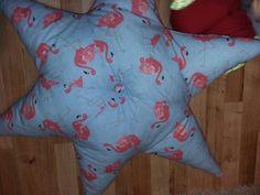 Flamingos giant pillow made by 'Fascynatory Natalii'