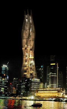 Serpentine Skyscraper in Singapore's Marina