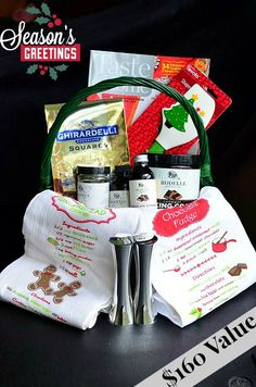I entered for a chance to win this awesome Christmas basket! Check it out!