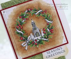 Stamp Talk with Tosh: Wreaths Plain and Fancy with Power Poppy