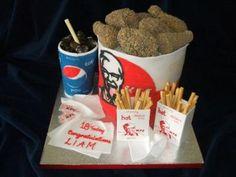 KFC chicken cake - odd