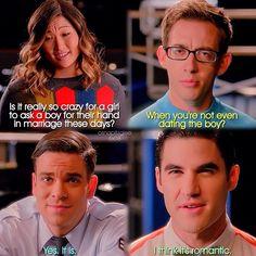 "#Glee 6x08 ""A Wedding"" - Tina, Artie, Puck and Blaine"