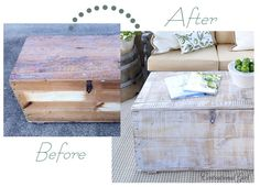 DIY white washed trunk (or any wood furniture)
