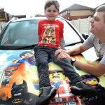 The parents of a young boy with autism who got upset getting in the family car have painted it with his favourite Lego Movie characters to put him at ease.  Liam Mulvaney would get distressed going on journeys in his mum and dads Nissan Qashqai  and would have a meltdown if he saw a similar car.  Parents Billy and Steph say the six-year-old who doesnt speak would get upset if he saw another black Qashqai after realizing it wasnt his familys.  So they decided to plaster the car with…