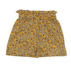 Paper Bag Waist Shorts - Warhol Daisy | Ultra Violet Kids