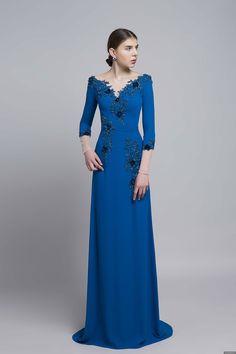 BST Váy dạ hội đơn giản sang trọng 2018 LAHAVA Trendy Dresses, Fashion Dresses, Blue Dresses, Kids Party Wear Dresses, Traditional Gowns, Indian Designer Outfits, Oriental Fashion, Ao Dai, Evening Dresses