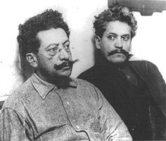 Good Guys.  1900, Los Angeles. Cipriano Ricardo Flores Magón was a noted Mexican anarchist and social reform activist, important in the social movement that sparked the Mexican Revolution. He and his brother Enrique (pictured here) were unjustly arrested in Los Angeles and sent to a Federal Prison in Kansas City Kansas only for having socialist ideas. They died after a time spent in that jail, being abused and tortured by the guards. A black chapter in Los Angeles history.