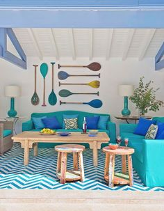 House of Turquoise: Melián Randolph House Of Turquoise, Pool House Decor, Beach Cottage Style, Deco Design, Pool Houses, Beach Cottages, Coastal Decor, Home Furniture, Industrial Furniture