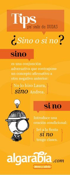 ¿Sino o si no? #Tip #Lengua #Español Más