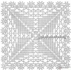 Square motifs for the tablecloths or napkins