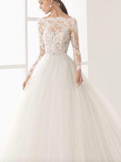 Featured Wedding Dress: Rosa Clará; Wedding dress idea.