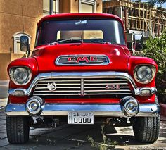 "1955 GMC Model 250 Pickup - I had a 1956 GMC Model 100 that was a 1/2 Ton model (with a 3/4 Ton Chevy frame)! This was before the GMC V6 came along, so the old venerable but very tough 270 cubic inch GMC (Jimmy) straight six was the base engine, It was advertised as making 120 hp at 3200 rpm(!). Lovers of ""Low-RPM"" engines (""Torque-Masters"") need not look any further. This 270 engine was substantially bigger than the Chevy (216 or optional 235) six. It could be bored out to 300 cubic inch"