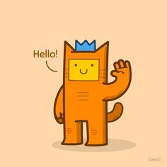 Introducing Herbert the Cat - The Roundlings #cute #drawing #postcard