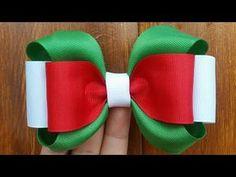 Making Hair Bows, Diy Hair Bows, Diy Bow, Flowers In Hair, Fabric Flowers, Frozen Bows, Baby Hair Bands, Bow Template, Christmas Hair Bows