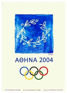 ATHENS 2004 SUMMER OLYMPIC GAMES Official Poster Reprint ~available at www.sportsposterwarehouse.com