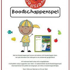 Met het Boodschappenspel kunnen de kinderen écht boodschappen doen. Het spel stimuleert het rollenspel en de ontluikende gecijferdheid.  Di... Busy Boxes, Fruit, Teaching, Google, Authors, Money, The Fruit, Learning, Education