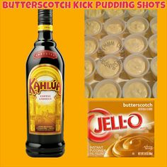 Butterscotch Kick Pudding Shots