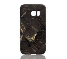 Golden Lava Stone Marble Phone Case - Samsung Galaxy S7 Edge