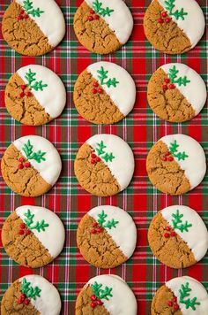 Let the holiday baking begin and let these cookies be at the top of that holiday baking list! These cookies will simply tantalize to your taste buds because they are anything but boring. These White Chocolate Dipped Ginger Cookies are oh so dreamy! Best Holiday Cookies, Holiday Cookie Recipes, Christmas Sugar Cookies, Christmas Sweets, Christmas Cooking, Holiday Baking, Christmas Desserts, Gingerbread Cookies, Tartan Christmas