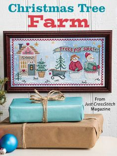 Christmas Tree Farm from the Nov/Dec 2016 issue of Just CrossStitch Magazine. Order a digital copy here: https://www.anniescatalog.com/detail.html?prod_id=134201