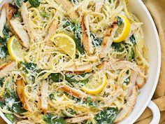 Lemon Ricotta Parmesan Pasta with Spinach and Grilled Chicken Healthy Food To Lose Weight, Healthy Meals For Kids, Healthy Snacks, Healthy Recipes, Delicious Recipes, Mozzarella Sticks, Italian Dishes, Italian Recipes, Pasta Recipes
