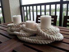 Trío de velas náuticas por ModernElementsHome en Etsy
