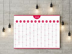 Wall Planner  Template  Yearly Planners    Yearly