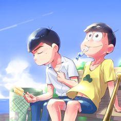 Hangout with Jyushimatsu and Karamatsu Osomatsu San Doujinshi, Gakuen Babysitters, Gekkan Shoujo Nozaki Kun, Twin Brothers, South Park, Game Character, Me Me Me Anime, Anime Characters, Anime Art