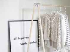 23 Ways to DIY Your Own Closet Without Actually Having a Closet via Brit + Co