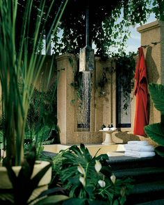 Tropical outdoor shower...love it!
