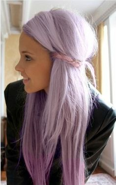 really want pastel purple hair..thinking of doing this next:)